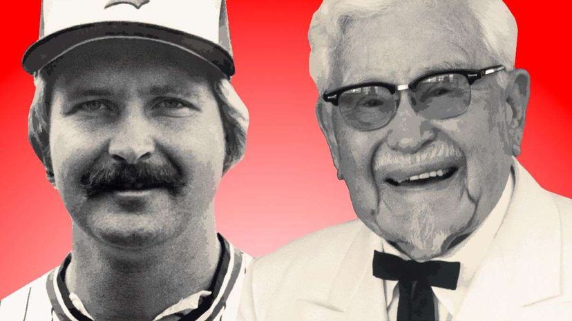 Just in the (very slim) chance you couldn't tell which one was which, that's Randy Bass on the left and the Colonel on the right. That's some resemblance, huh? Bettmann/Corbis/Denver Post/Getty