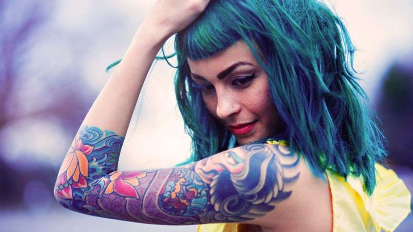 About 20 percent of U.S. adults sport at least one tattoo, according to a 2012 poll. Marie Killen/Getty