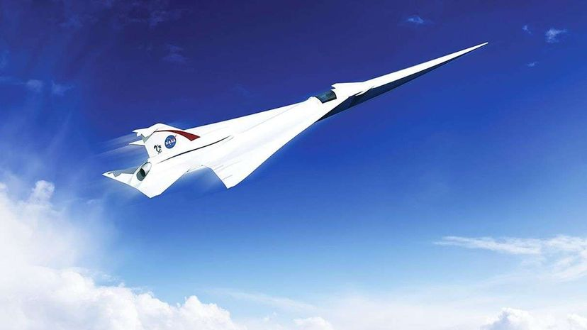 NASA recently announced a big step forward in its efforts to develop a quieter supersonic jet. The above artist's concept comes from NASA partner company Lockheed Martin. Lockheed Martin