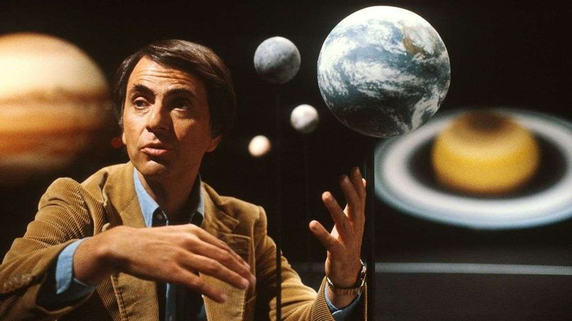Carl Sagan is one of many great thinkers offering words of inspiration for aspiring scientists. Science Source/Getty Images