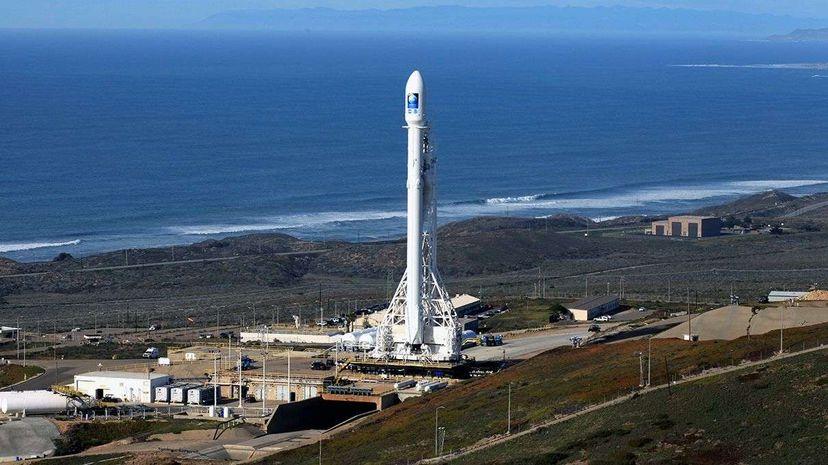 Falcon 9 with Jason-3 stands ready for launch on Jan. 17, 2016. NASA/Kim Shiflett