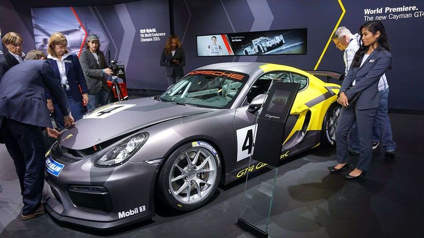 That guy, the Porsche Cayman GT4 Clubsport, made our list. You can practically see it preening in the attention at the official opening ceremony of the 2015 Los Angeles Auto Show. Anadolu Agency/Getty Images