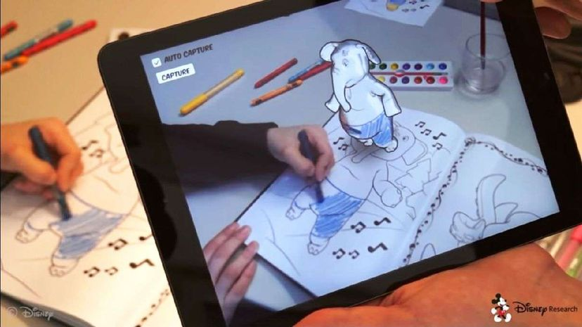 Disney has developed an app that offers an augmented coloring book experience. Disney Research