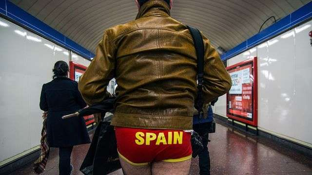 No Pants Day in Spain