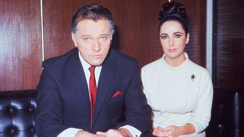 Actors Richard Burton and Elizabeth Taylor, pictured here in 1962, famously married twice  and divorced twice, too. Hulton Archives/Getty Images
