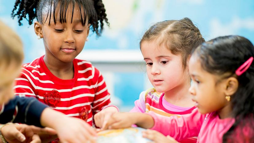 Some kindergartners, and their teachers, may be looking to behavior to define which peers are smart. FatCamera/Getty Images