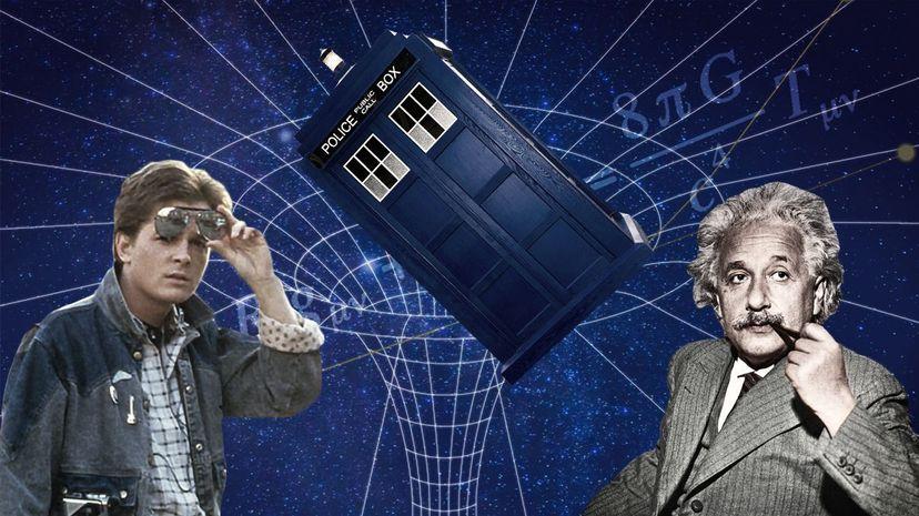 Marty McFly, TARDIS and Albert Einstein