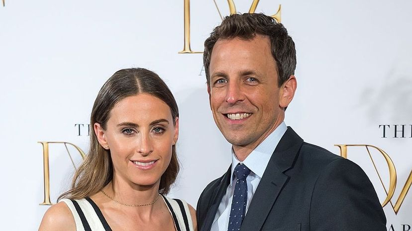Seth Meyers and his wife Alexi Ashe (shown attending the 2015 DVF Awards at the United Nations) sure look like siblings.  Michael Stewart/FilmMagic/Getty Images