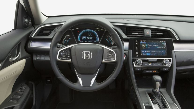 The interior of a Honda similar to this one was customized. Honda