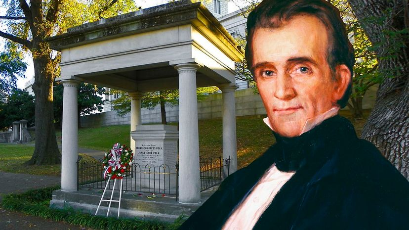 James K. Polk, the 11th President of the United States, is buried in Nashville, Tennessee. Some are working to move his remains. Bettmann/Getty Images