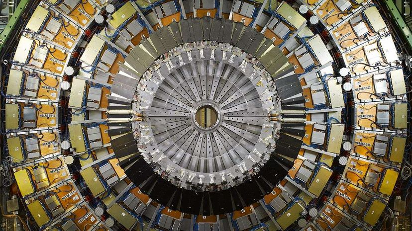 A shot of the Large Hadron Collider's CMS detector View Pictures/UIG via Getty Images
