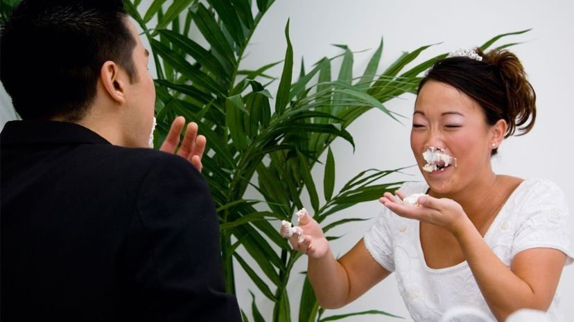 Cake-smashing can actually be risky on several levels. Vstock LLC/Thinkstock