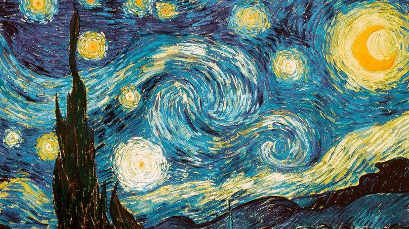 """Turkish artist Garip Ay recreated """"The Starry Night"""" painting with oil on water. YouTube/SuperStock/Getty Images"""