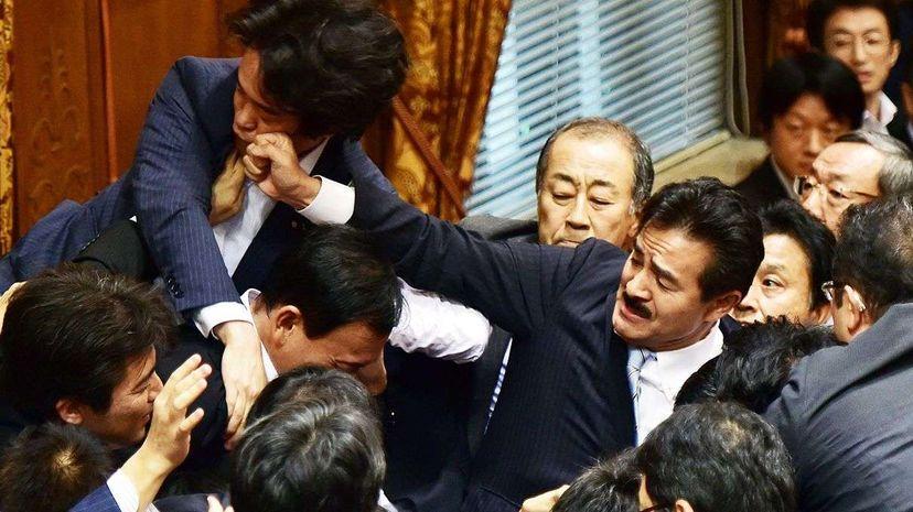 Georgian politicians fight on live TV Reuters
