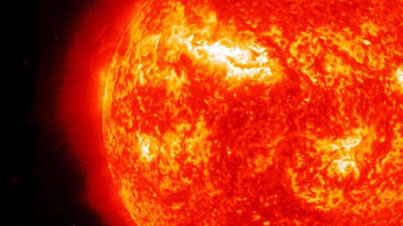 There's some unexpected physics at work in the solar atmosphere. Universal History Archive/UIG/Getty Images