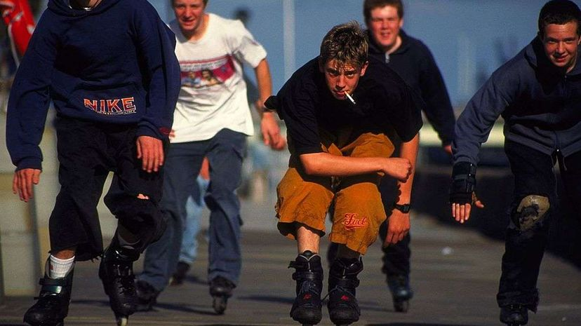 Inline skating, a staple of the 1990s, maybe be poised for a comeback. PYMCA/Getty Images
