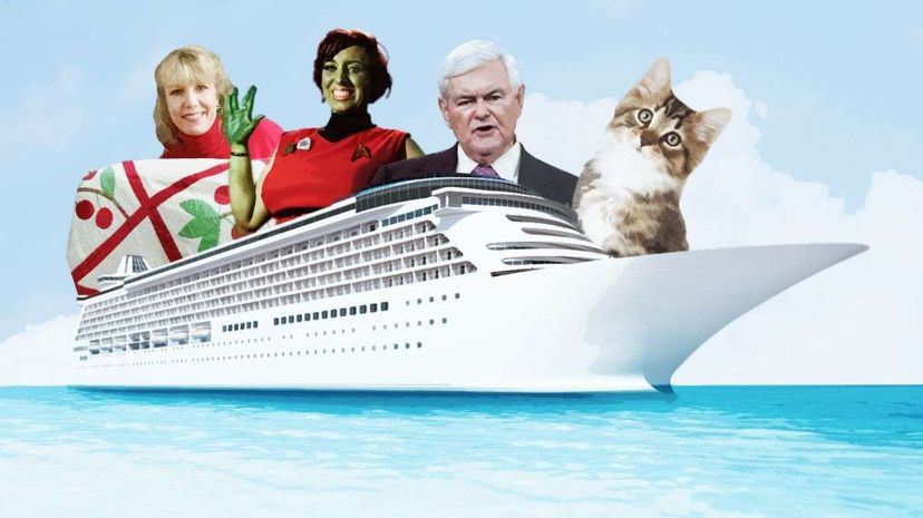 Whether you're a quilter, a Trekker, a Newt Gingrich fan or a crazy cat lady, there's a cruise for you. Nicholas Kamm/Benjamin Simeneta/John Ewing/Barcroft/Getty/HowStuffWorks