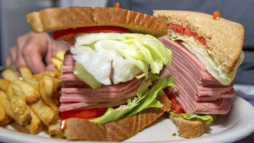 The American City Diner in Washington, DC, introduced in mid-2015 a meal called The Trump Sandwich: Full of Bologna.  RON SACHS/DPA/CORBIS