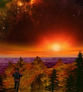 Will that be you someday peering out over Gliese 581g's alien landscape? See more Space Exploration Pictures.