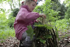 Fairy houses give kids a chance to get really creative with found objects.