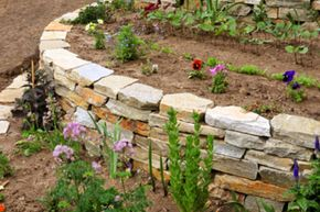 Stone circles will give your garden definition.
