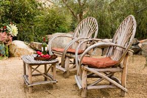 An attractive gravel patio is the perfect space to relax and gaze at the garden.