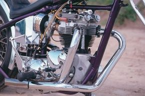 The Outlaw's two-cylinder engine.