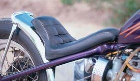 The chromed rear fender of the Outlaw.
