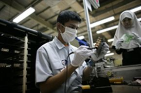 Many companies are increasingly outsourcing the manufacture of goods.