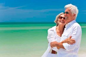This is the dream of retirement -- happy couple on the beach.  But what is the reality?