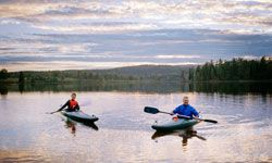 Kayaking can offer both excitement and serenity.