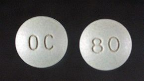 80-mg OxyContin tablet
