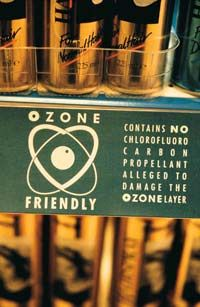 """The Montreal Protocol was an effort to encourage industries to switch to """"ozone friendly"""" products."""