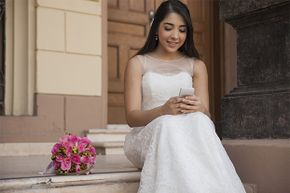 A congratulatory text on your upcoming wedding from a close friend isn't going to cut it. It's acceptable from an acquaintance.
