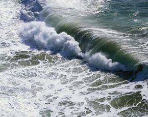 Ocean Current Image Gallery Large waves like this one often generate powerful ocean currents. See more ocean current pictures.