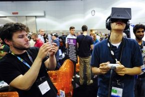 The Oculus Rift in use during E3 in Los Angeles, Calif. in June 2013.