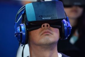 """Attendees at the 2014 International CES had the opportunity to play """"EVE: Valkyrie"""" on the Oculus Rift."""
