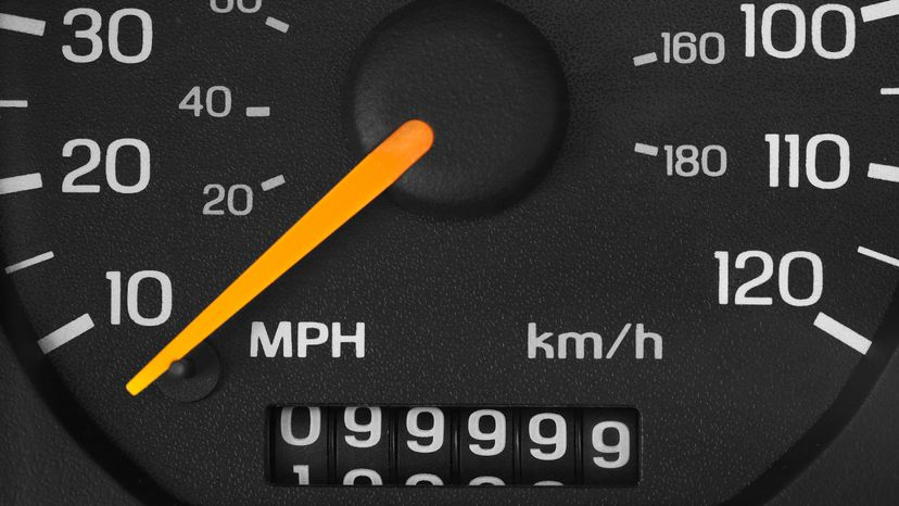 Close Up of Vehicle Odometer