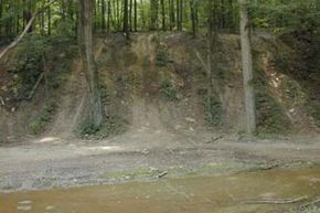 Dirt bike and ATV trails contribute to siltation and habitat destruction at Yellow Creek in Ohio. See more off-roading pictures.