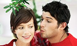 Mistletoe is cute at home, but not appropriate for the office.