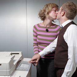 A big no-no: the romantic rendezvous at the copier.