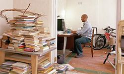 Well, this is certainly one way to get your home office under control. See more home office decor pictures.