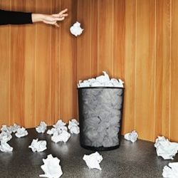 By Monday, your office wastebasket should look like this.