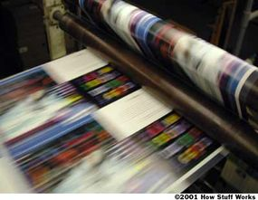 Press speeds can run up to 50,000 impressions per hour.