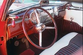 The interior of the Ohanesian 1940 Mercury was finished with custom upholstery and a 1947 Cadillac dashboard.