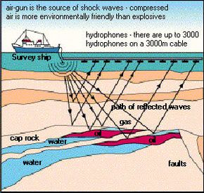 Searching for oil over water using seismology