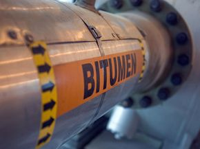 A bitumen line runs through Canada.