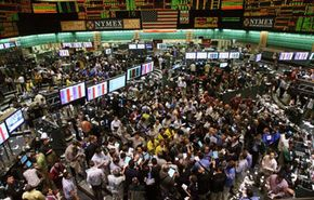 Traders on the New York Mercantile Exchange on Feb. 20, 2008 — the day crude oil topped $101 per barrel for the first time ever.