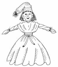 Use dried apples to create this Apple Girl Doll for Oktoberfest.