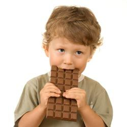 While the sugar in this chocolate bar won't make a kid hyper, the caffeine certainly could.